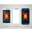 Smartphones with sloped edges vector image vector image