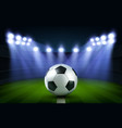 soccer ball on stadium football arena banner vector image vector image