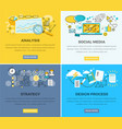 social media analysis and design progress strategy vector image