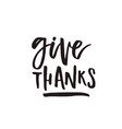 thanksgiving lettering vector image vector image