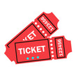 tickets close up top view party film vector image