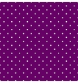 Tile pattern white polka dots on violet background vector image vector image