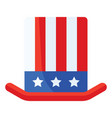 uncle sam hat united state independence day vector image vector image