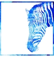 watercolor animal background in a blue color head vector image