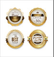 white and gold badges luxury collection 04 vector image vector image