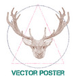 vintage poster with deer vector image