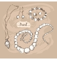 Pearl collection vector image