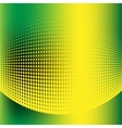 Abstract halftone green and yellow background vector image