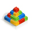 brick piramid meccano toy vector image