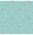 Vintage seamless pattern of seashells vector image