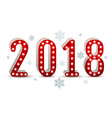2018 new year number neon silhouette vector image vector image