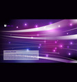 Abstract colorful background violet light streak vector image