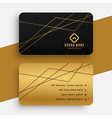 black and gold business card with geometric lines vector image vector image