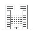 buildings thin line icon real estate and home vector image