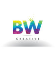 bw b w colorful letter origami triangles design vector image vector image