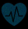 cardiology collage icon of halftone circles vector image
