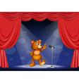 Cartoon Performing Bear vector image vector image