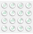 cleaning and housework icons thin line style on vector image vector image