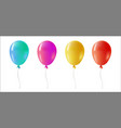 color helium balloon set for party event vector image vector image