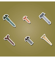color icons with screws vector image vector image
