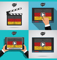 concept of learning languages study german set vector image