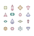 Crystal icons Design vector image vector image