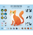 Cute cat breed constructor You can create your vector image