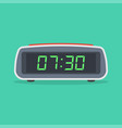 digital alarm clock isolated on white background vector image vector image