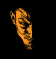 evil man portrait silhouette in contrast backlight vector image vector image