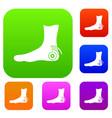 foot heel set color collection vector image