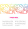 furniture line design template vector image