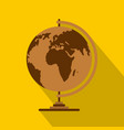 geography icon flat style vector image vector image