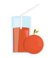 glass with juice of orange vector image vector image