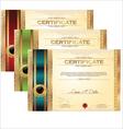 Golden certificate template set vector image vector image