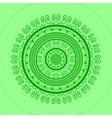 Green Circle Lace Ornament vector image vector image