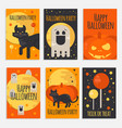 halloween party banners cards and posters vector image vector image