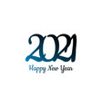 happy new year 2021 background cover card vector image vector image