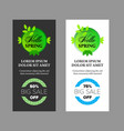 hello spring banners set vector image