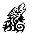 High quality original wolf tattoo vector image vector image