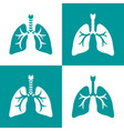 human lungs icon set vector image vector image