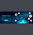 isometric smart car vector image vector image