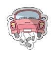 just married car isolated icon vector image vector image