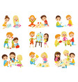 kids creativity set childrens creativity vector image