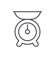 kitchen weight line icon sign vector image vector image