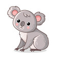 koala sits on a white background cute animal in vector image vector image