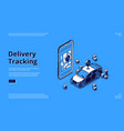 landing page delivery tracking service vector image