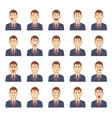 Large set of male emotions vector image vector image