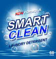 laundry detergent package ads toilet or bathroom vector image