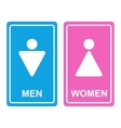 Male and female WC icon vector image vector image