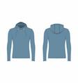 mens blue hoodie vector image vector image